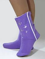 Домашние тапочки-сапожки фиолетовые с лапками, фото 1