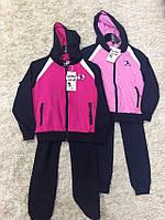 Трикотажный костюм 2 в 1 для девочек оптом, S&D, 116-146 см,  № CH-5502
