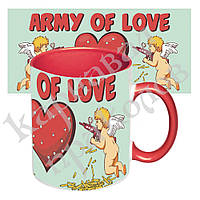 Чашка с принтом 64102 Армия любви (красная), фото 1