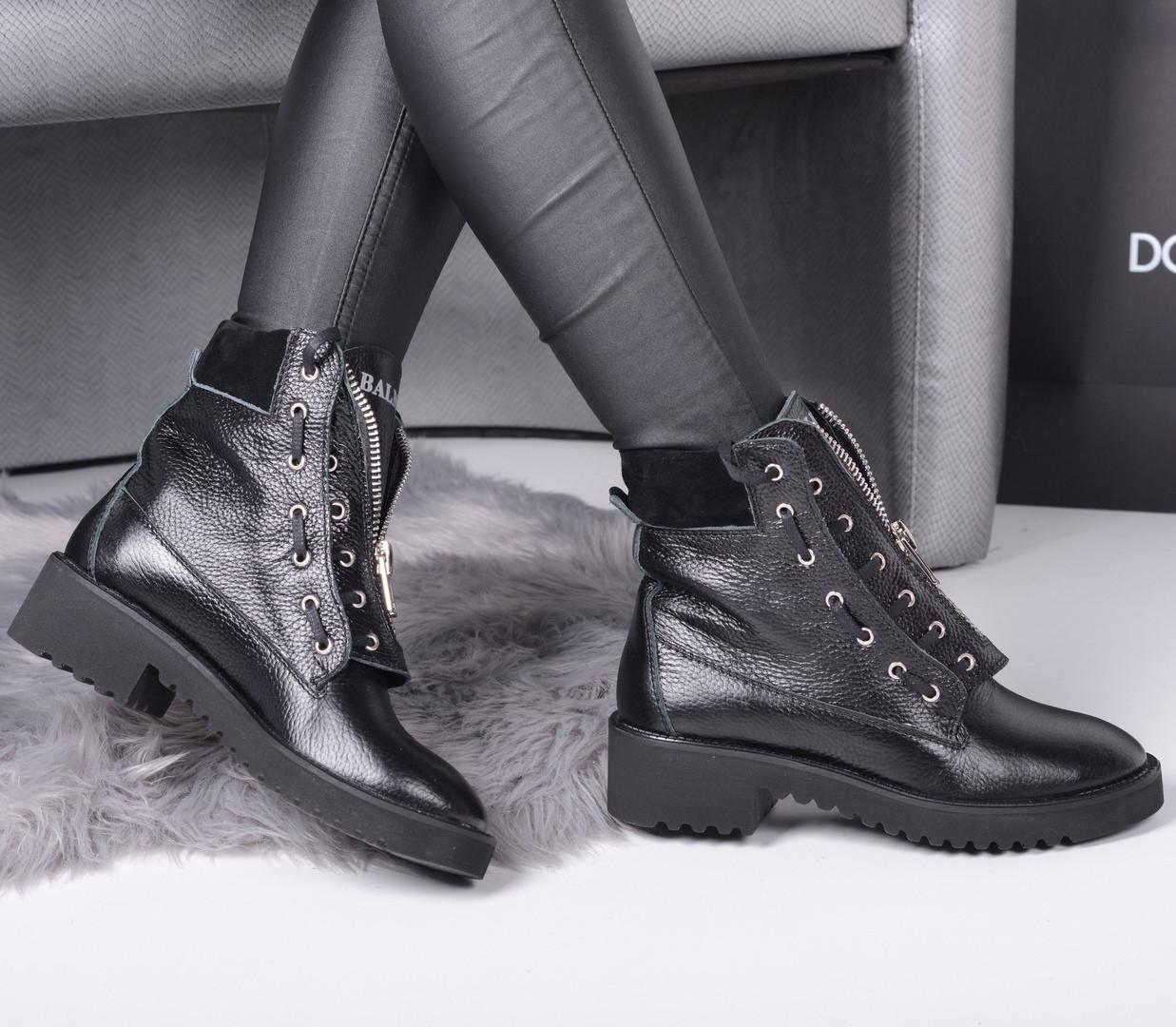 Демисезонные ботинки в стиле Б@лман натуральная кожа