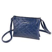 Синяя классическая сумка-клатч М105-24 через плечо, фото 1