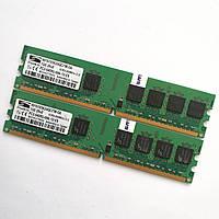 Комплект оперативной памяти Promos DDR2 2Gb (1Gb+1Gb) 800MHz PC2 6400U CL6 (V916765K24QCFW-G6) Б/У, фото 1