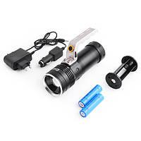 Led-фонарь переносной police s910, максимальная и средняя яркость, стробоскоп, оптический зум, питание 2*18650