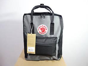 Рюкзак Fjallraven Kanken, 16л, Черно-серый, Материал: Vinylon F 100%