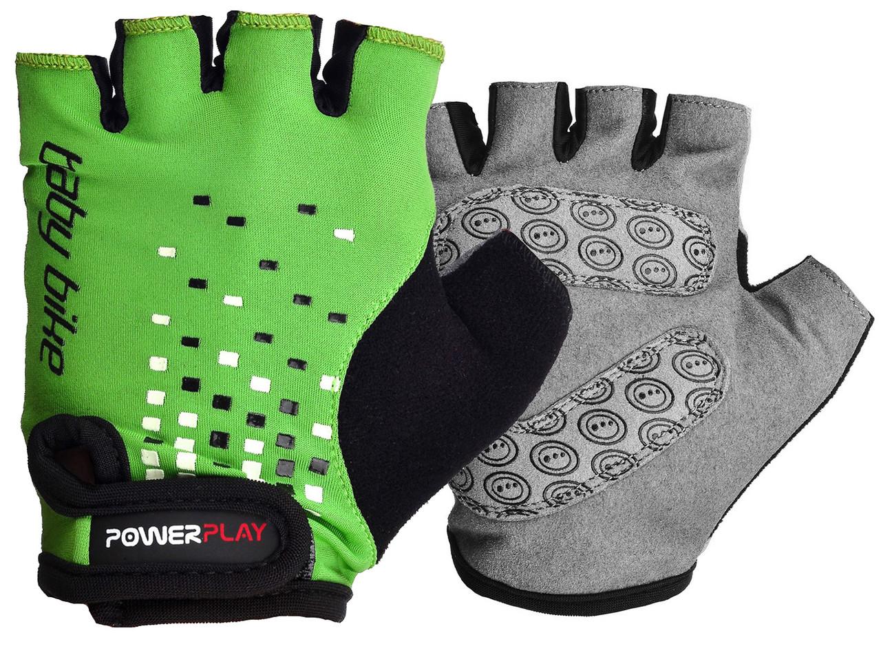 Велоперчатки детские PowerPlay 5451 A Зеленые S