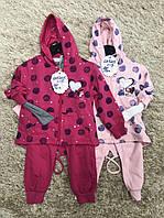 Трикотажный костюм 3 в 1 для девочек оптом, S&D, 1-5 лет,  № CH-5205