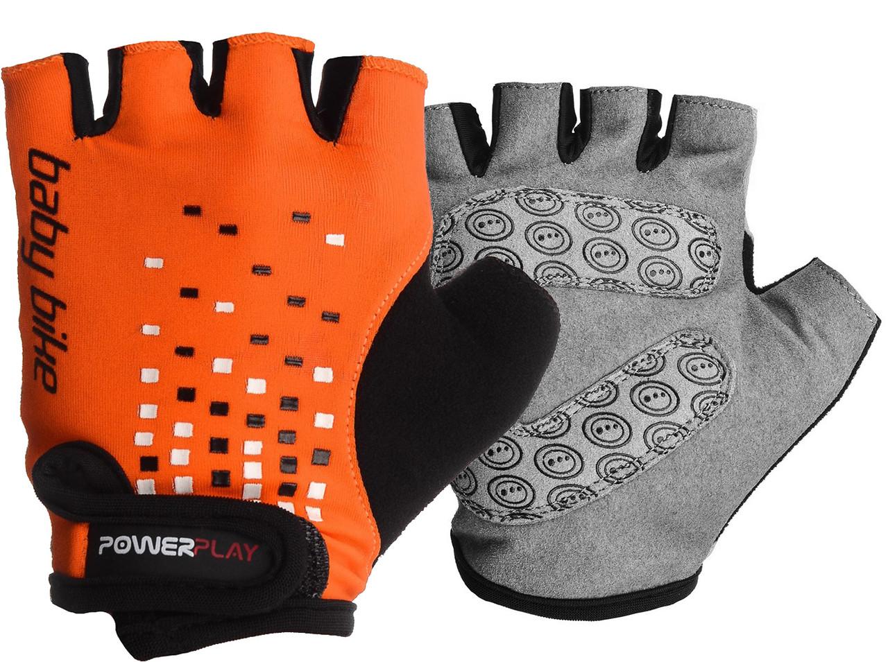 Велоперчатки детские PowerPlay 5451 B Оранжевые S