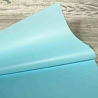 Калька для упаковки цветов однотонная ярко-голубая непрозрачная 60*60 см, 20 листов, фото 2