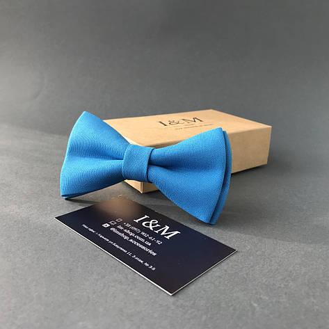 Галстук-бабочка I&M Craft классический голубой (010311), фото 2