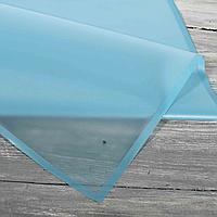 Калька для упаковки цветов темно-голубая с непрозрачным краем 60*60 см, 20 листов