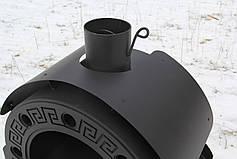 """Печь-камин на дровах """"Везувий"""" с принудительной конвекцией, сталь 4-8мм, фото 2"""