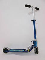 Детский самокат Scooter синий (светящиеся колеса)