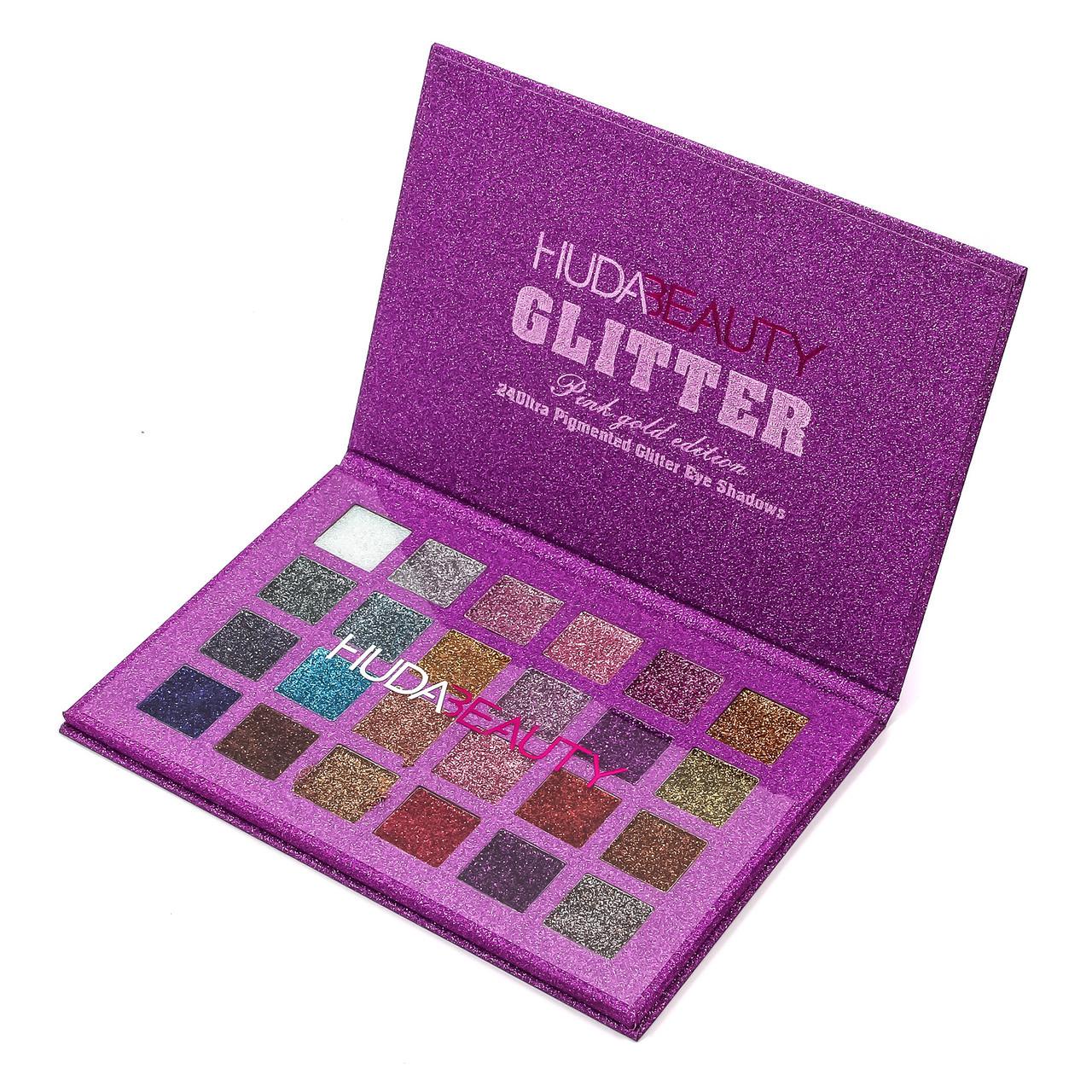 Палитра теней HUDA BEAUTY Glitter Summer Pink Gold Edition 24 в 1