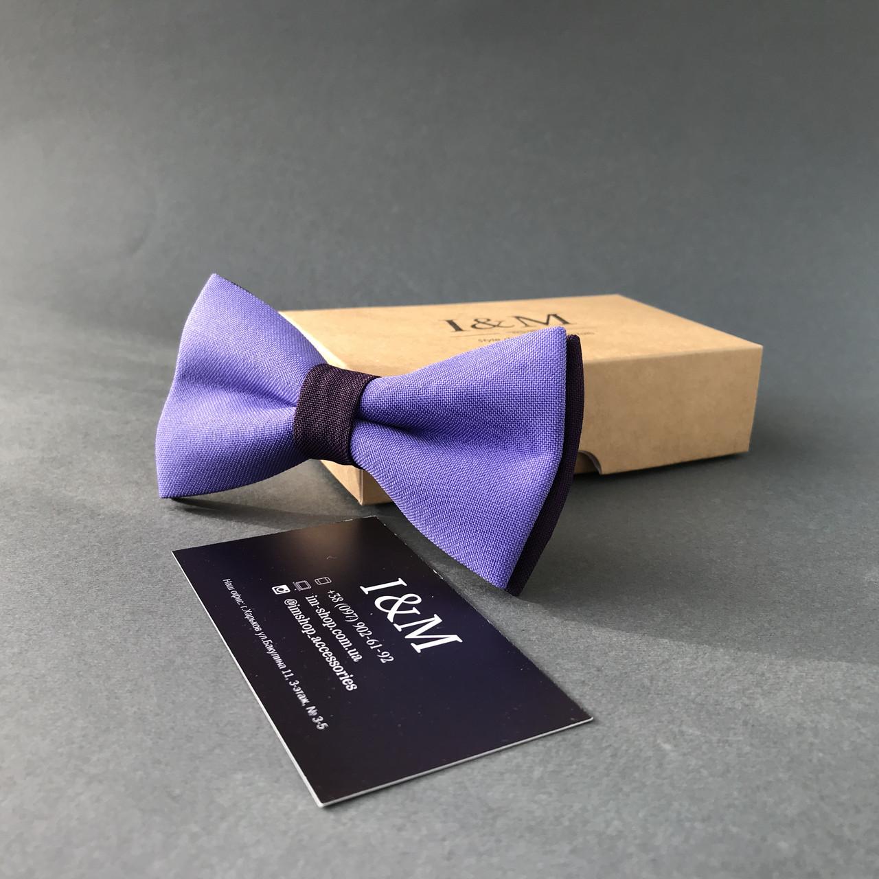 Галстук-бабочка I&M Craft классический лавандовий с фиолетовым (010317)