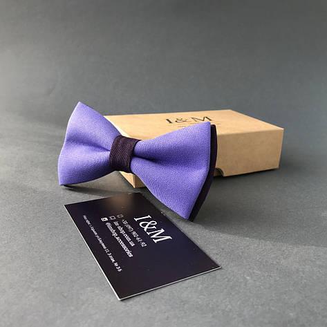 Галстук-бабочка I&M Craft классический лавандовий с фиолетовым (010317), фото 2