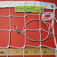 Волейбольная сетка «ЭЛИТ 10» с тросом белая, фото 1