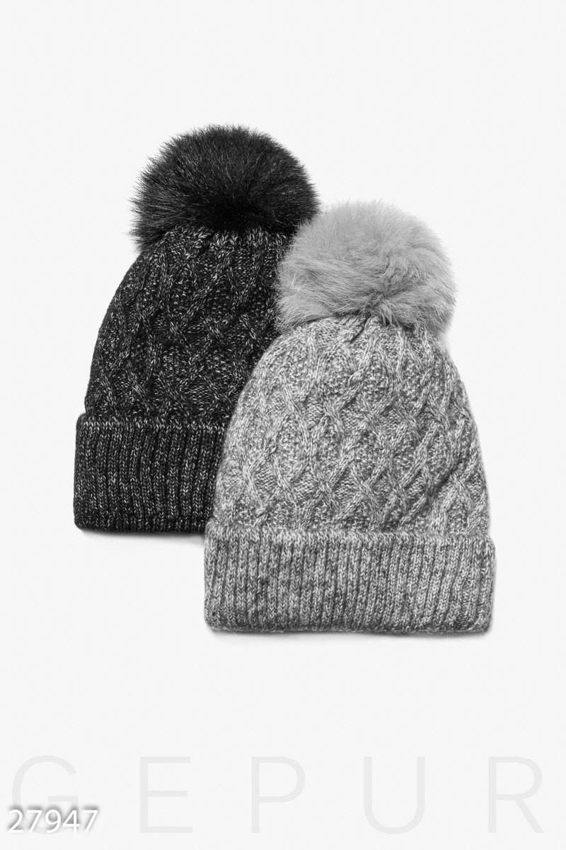 Утепленная зимняя шапка