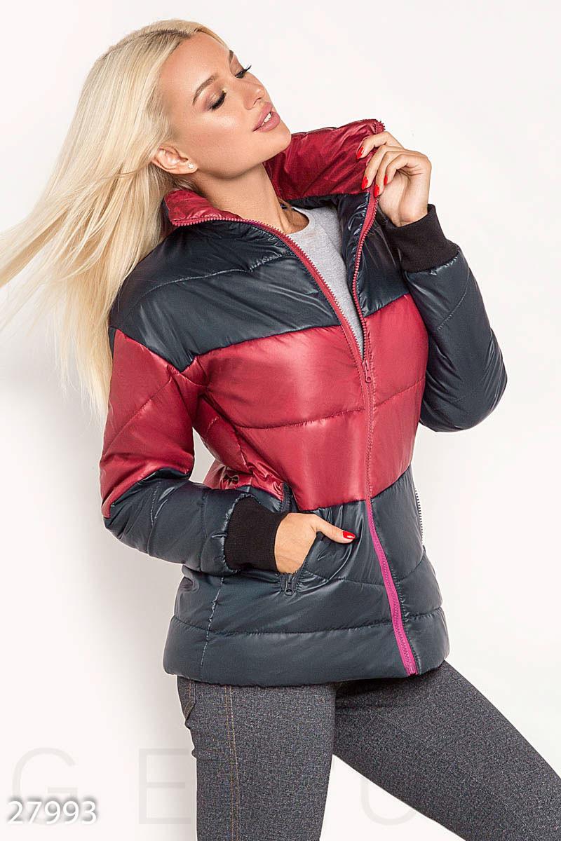 Двухцветная демисезонная куртка