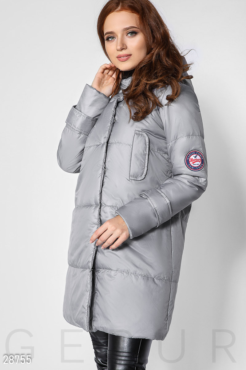 Демисезонное стеганое пальто