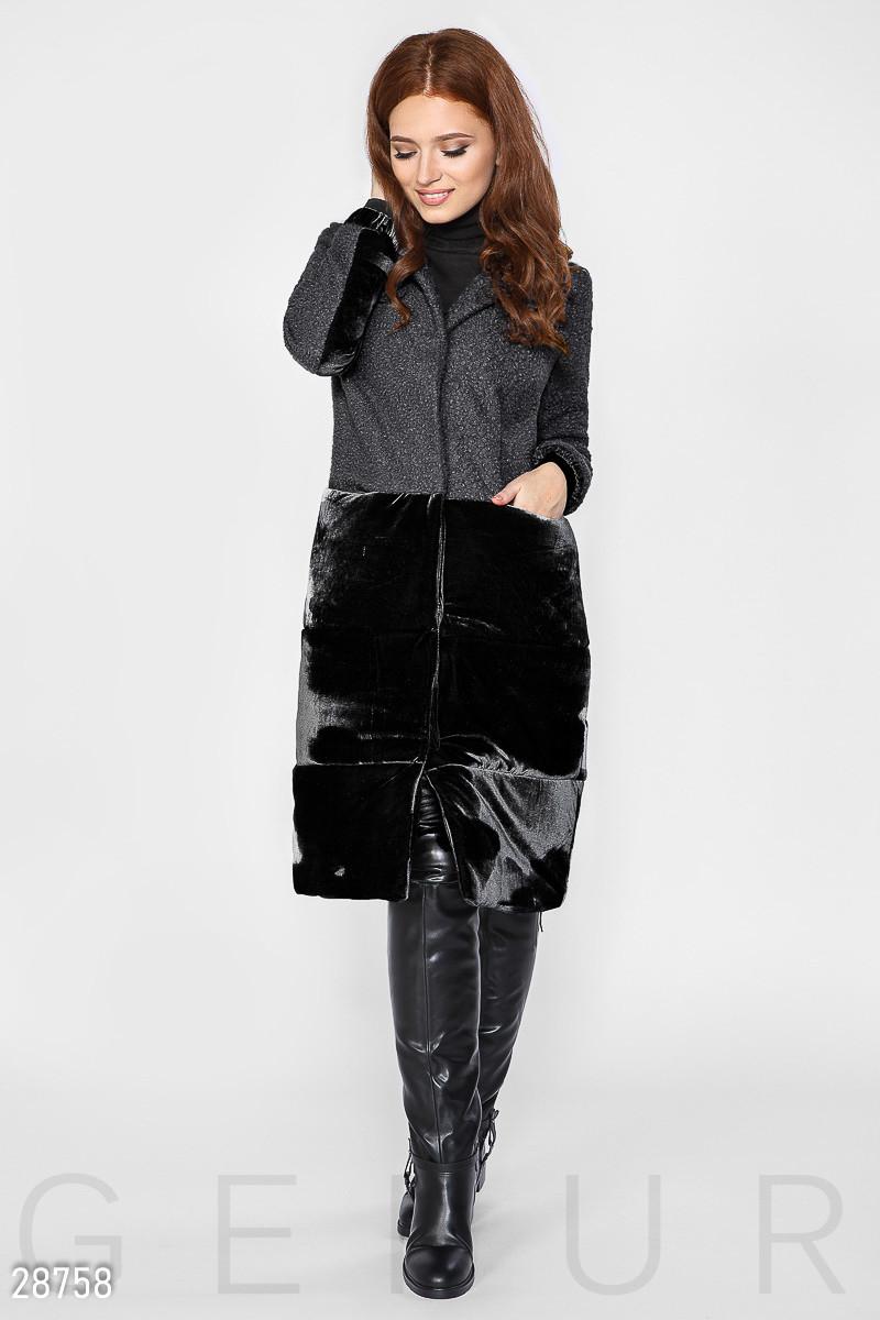 Комбинированное осеннее пальто