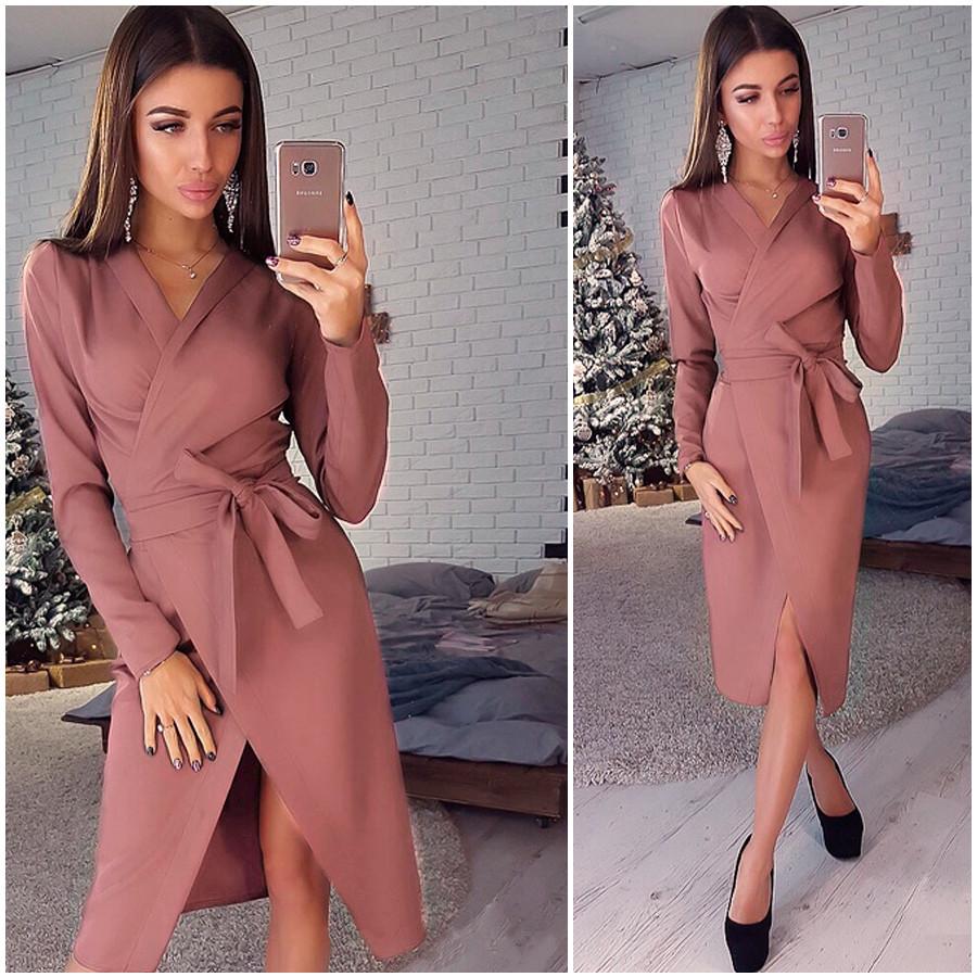 Платье-халат цвета мокко Janett (Код 413)