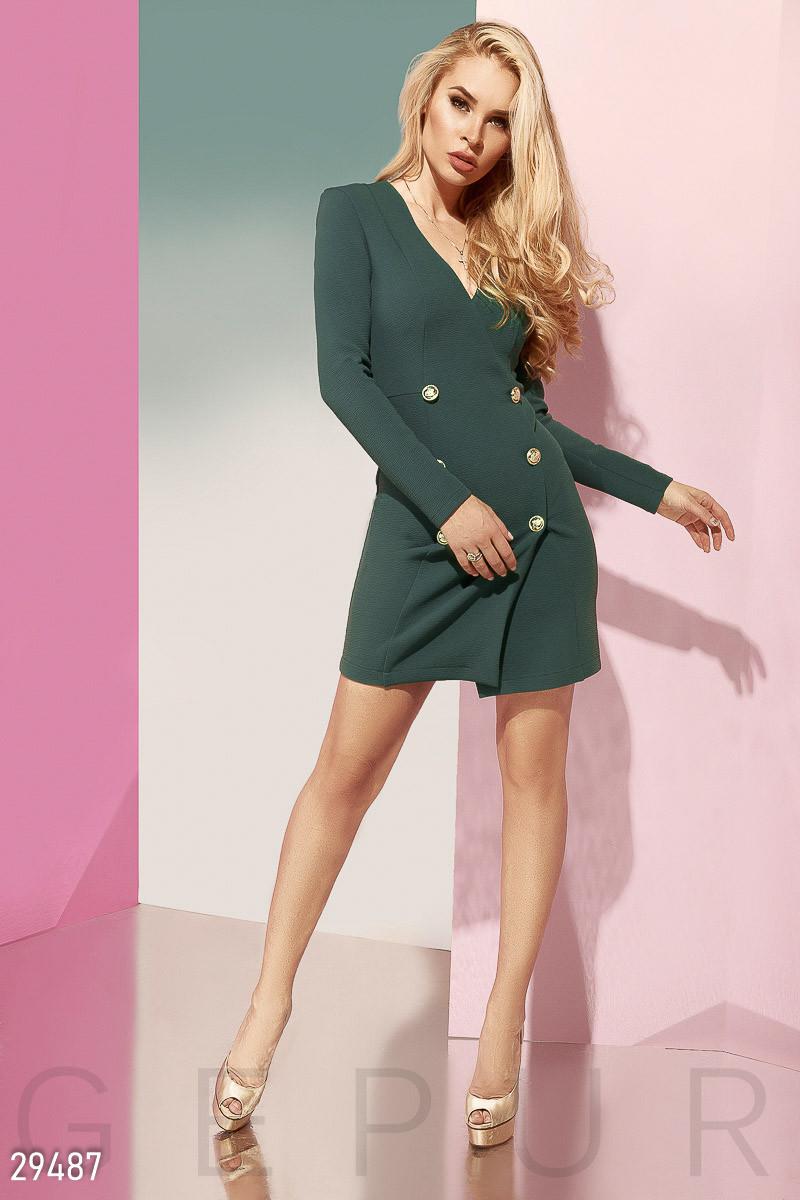 Двубортное платье-пиджак