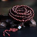 Четки из красного сандалового дерева 216 бусин на удачу, фото 5