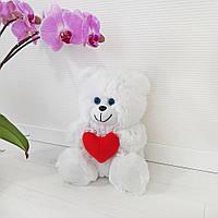 Мягкая игрушка Zolushka Медвежонок с сердцем травка 28см (110)