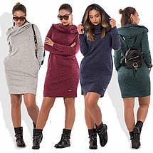 Платье хомут из ангоры sh-018 (42-52р, разные цвета), фото 2