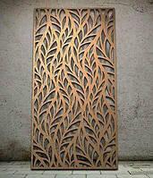 """Интерьерные перегородки """"Листья"""", декоративные панели, деревянные ширмы, резные экраны"""