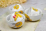 Детский набор посуды Смайлик в ассортименте.