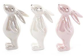 Декоративна керамічна фігурка Кролик 3 види, 14см (834-757)