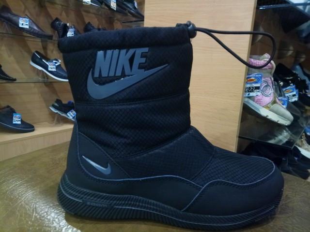 Ботинки подростковые Nike 824-5 черный дутик