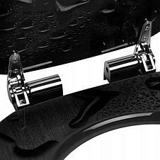 Сиденье для унитаза с плавным закрытием, стульчак Comfort Black Drop., фото 2