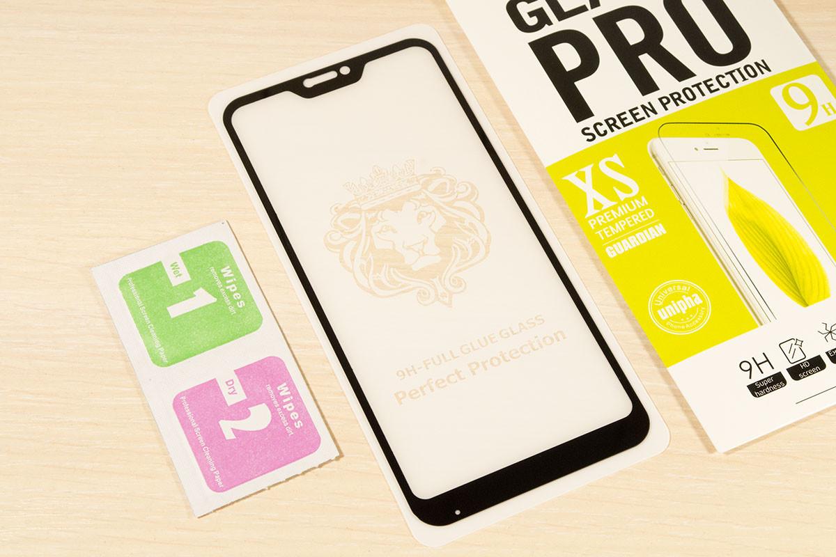 Защитное стекло Full Glue для Xiaomi Mi A2 Lite / Redmi 6 Pro клей по всей поверхности (Black)