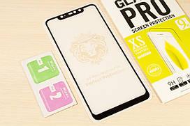 Защитное стекло Full Glue для Xiaomi Redmi Note 6 Pro клей по всей поверхности (Black)