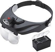 Бинокулярные лупы очки MG81001-F  Led подсветкой, 1,2Х 1,8Х 2,5Х 3,5Х