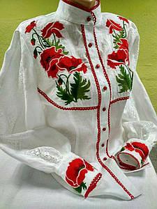 """Блуза женская с вышивкой """"Маки"""""""
