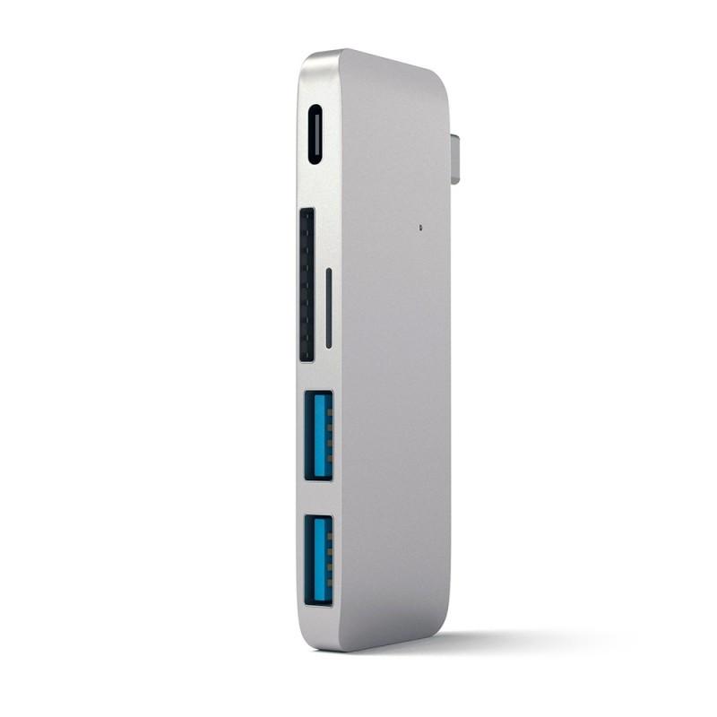 Satechi Type-C USB 3.0 Passthrough Hub Silver