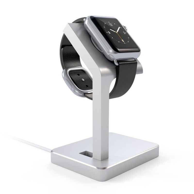 Satechi Aluminum Apple Watch Charging Stand Silver