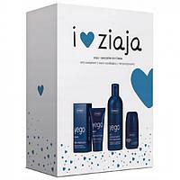 Набор косметики Ziaja Yego для мужчин (гель для душа, крем, антиперспирант)