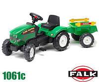 Трактор на педалях для детей от 2 до 5 лет Falk 1061C. Машинка для детей