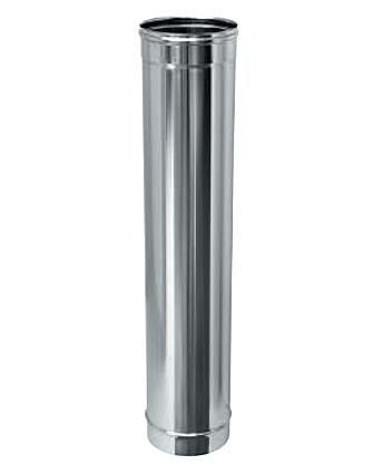 Труба одностенная из нержавеющей стали, толщина стенки - 0,5 мм, длина - 1 м, толщина стенки - 0,5 мм, длина - 1 м 120 мм