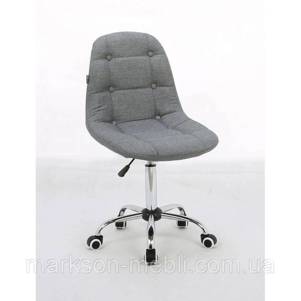 Косметическое кресло HC-1801K серое ткань хром