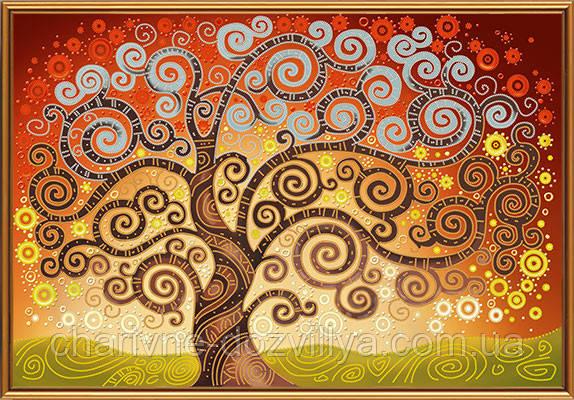 """Схема вышивки крюил """"Дерево счастья&quot 3"""