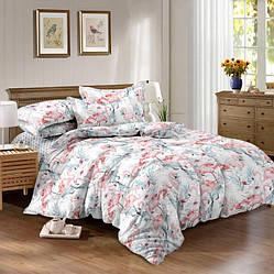 Двуспальный комплект постельного белья «Фламинго» 175х217 см из ранфорса