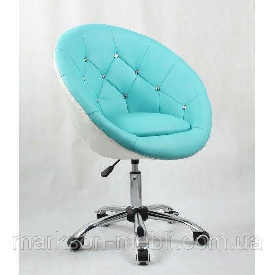 Косметическое кресло HC-8516K бирюзово-белое