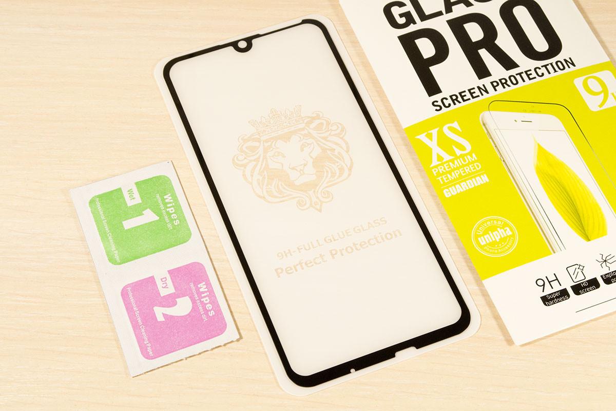 Защитное стекло Full Glue для Huawei P Smart 2019 клей по всей поверхности (Black)