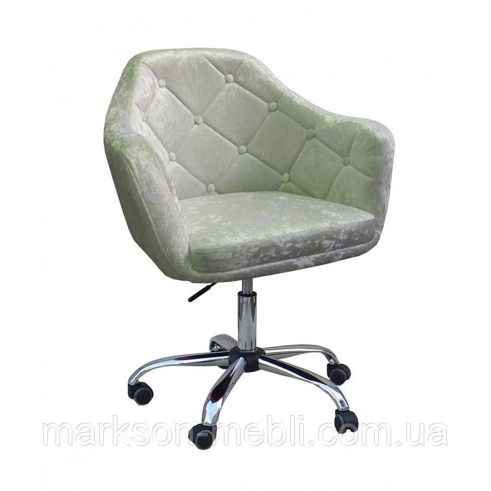 Косметичне крісло HC830K сірий велюр