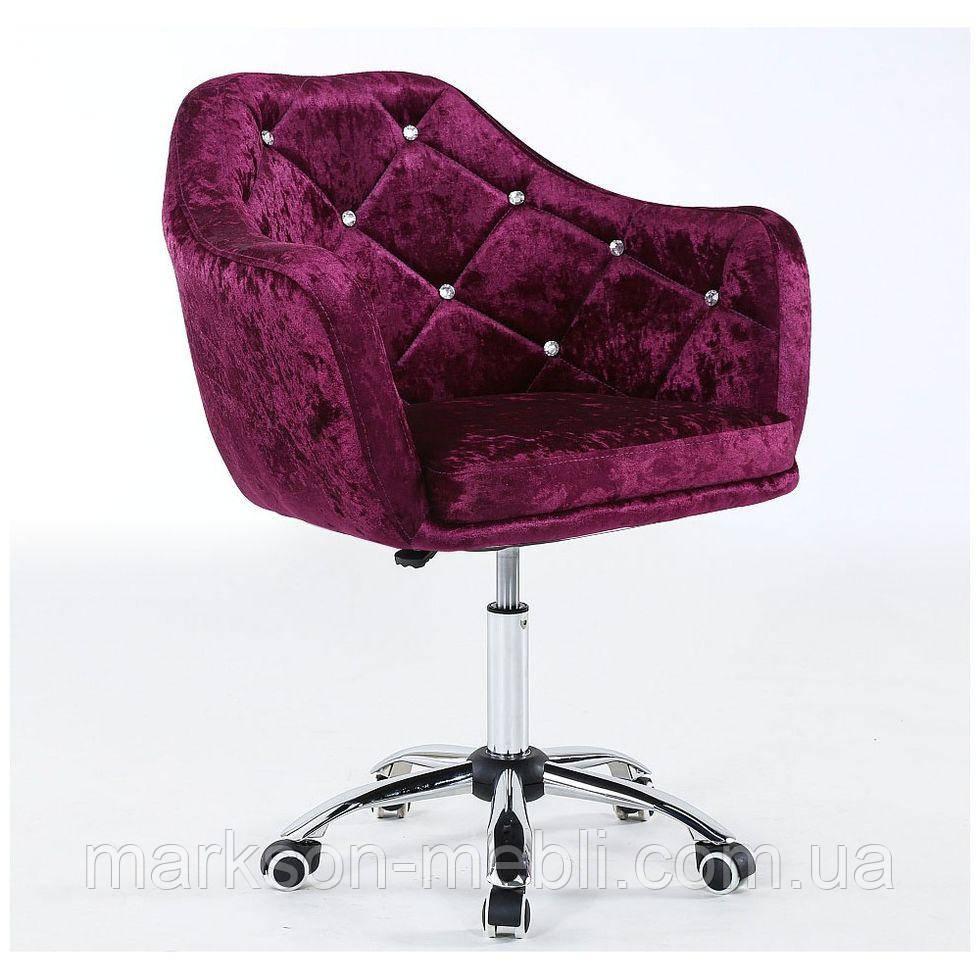 Косметическое кресло HC830K фиолетовое велюр